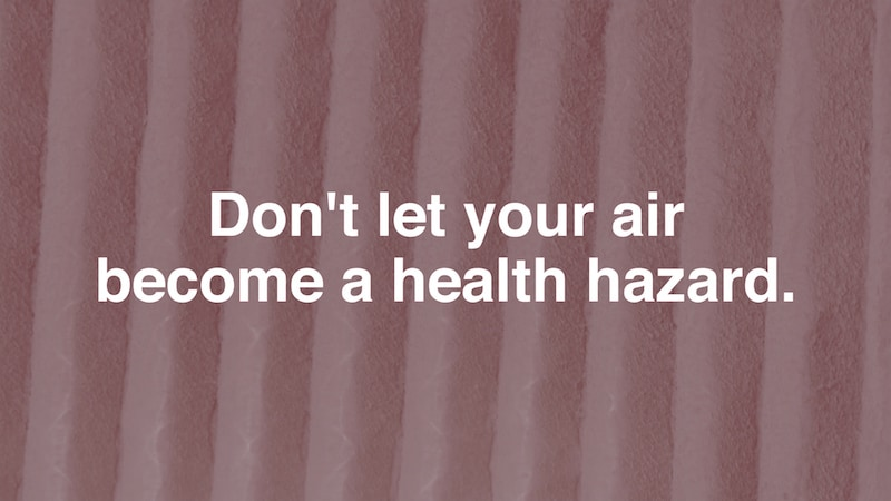 Video explaining the importance to replace your home's air filter regularly.